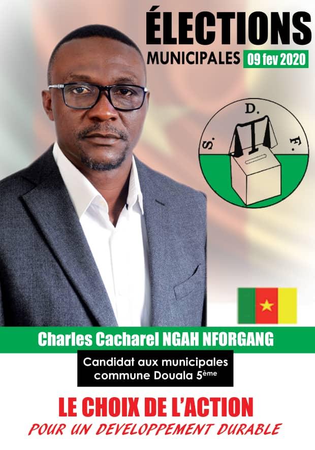 Il va concourir sur la liste du Social Democatic Front. Précisémentsur la liste conduite par Rodrigue Carlos Ngoualem, l'adjoint au maire de Douala 5è.