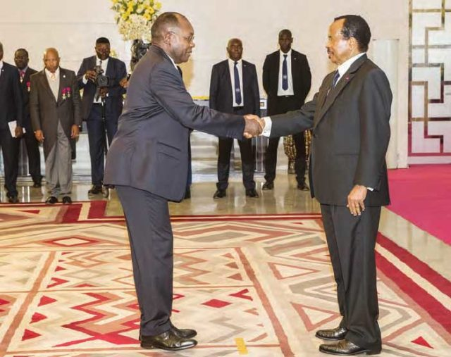 L'ambassadeur de la République Gabonaise a tenu à le rappeler au président Paul Biya ce jeudi 9 janvier 2020 pendant la cérémonie de présentation des vœux de nouvel an.