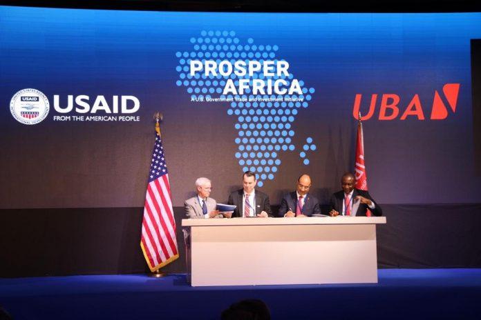 L'Agence des Etats-Unis pour le développement international (Usaid) via son projet dénommé prosper Africa, a signé avec la United Bank for Africa (Uba), jeudi 06 février 2020 à Tunis, un protocole d'accord sur les objectifs du commerce et de l'investissement entre les Etats-Unis et l'Afrique.
