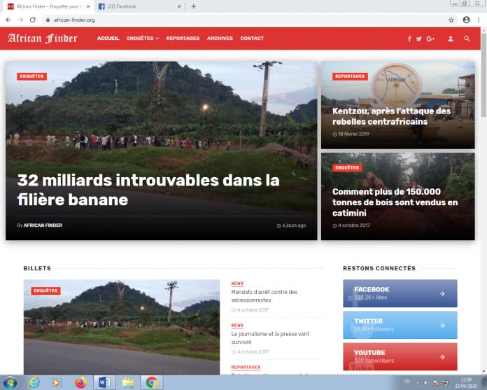 Les centres d'intérêt du site Internet de l'ancien rédacteur-en-chef adjoint du quotidien «Le Jour» sont le crime et le trafic au Cameroun et dans la sous-région Afrique centrale.