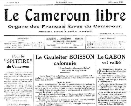 Le Cameroun libre