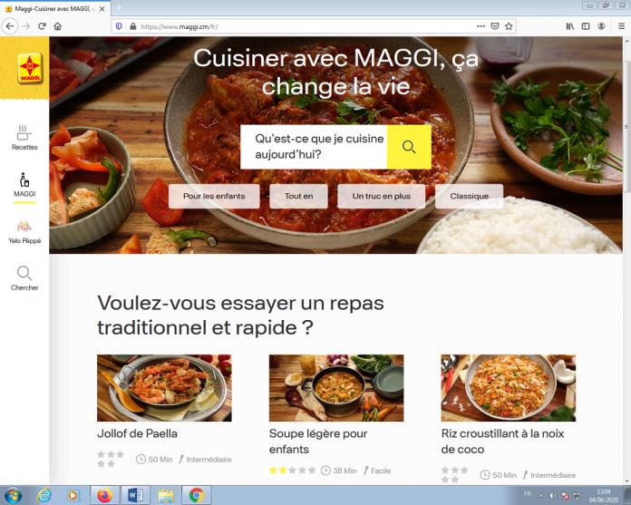 Maggi, filiale du groupe Nestlé en Afrique Centrale et de l'Ouest, dédie un portail aux recettes du continent. La plateforme a été présentée ce mercredi 03 juin 2020.