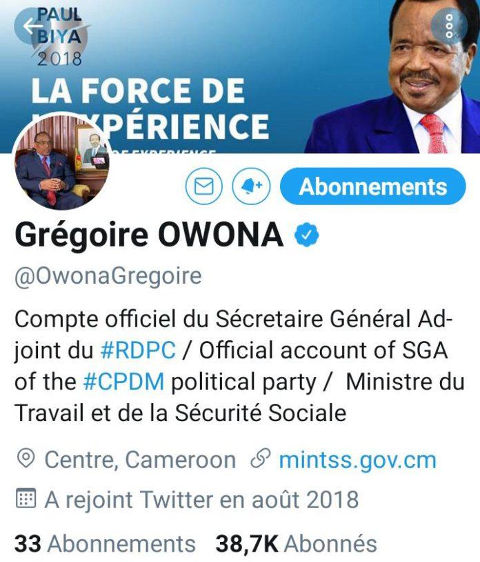 Près de dix comptes Twitter officiels des personnalités publiques et ministères camerounais ont reçu leurs petits badges bleus ce mercredi 8 juillet 2020.